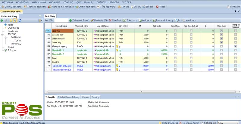 Phần mềm quản lý quán trà sữa online chuyên nghiệp SmartPos - HA1